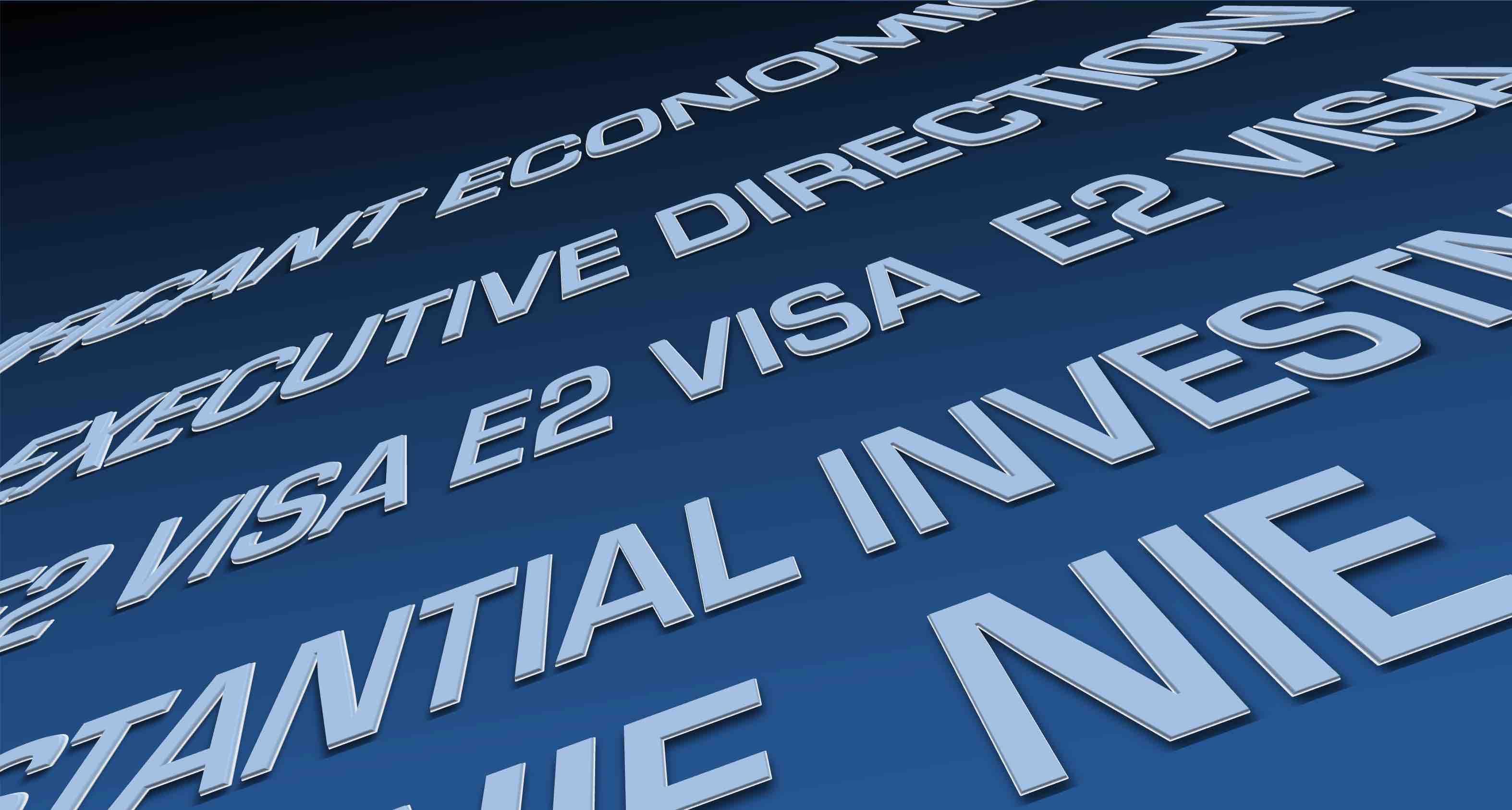 NIE nuevamente disponibles para inversores y ejecutivos de visa E2